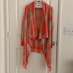 Say What Acrylic Aztec coral tan sweater